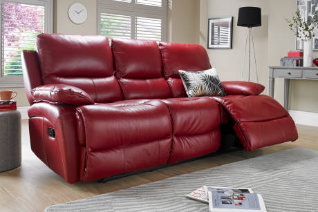 Red Leather Recliner Sofa Uk Brokeasshome Com