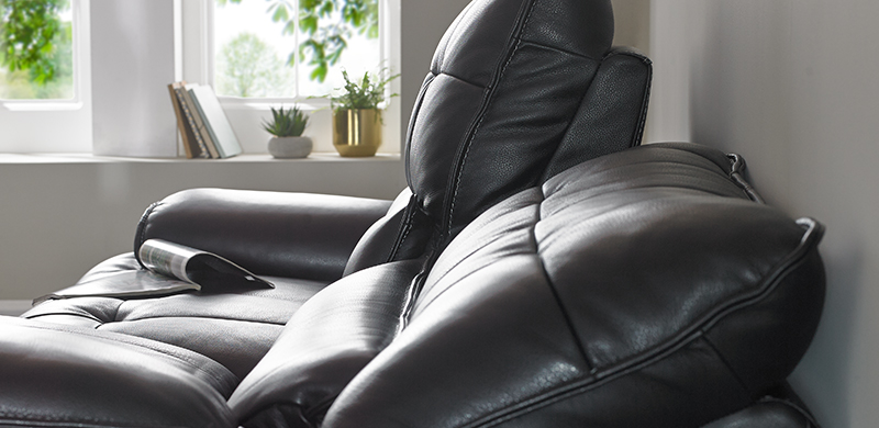 Sofa reclining 10cm from wall