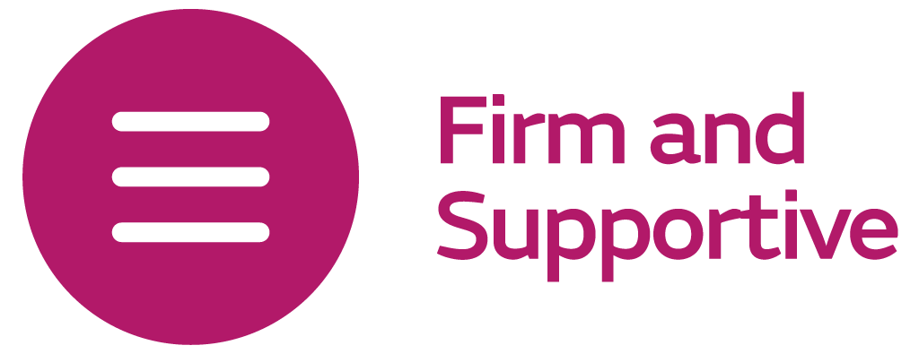 Firm and Supportive Logo