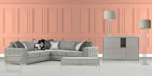 Grey Glamour Living Room