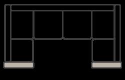 Corner sofa with arms