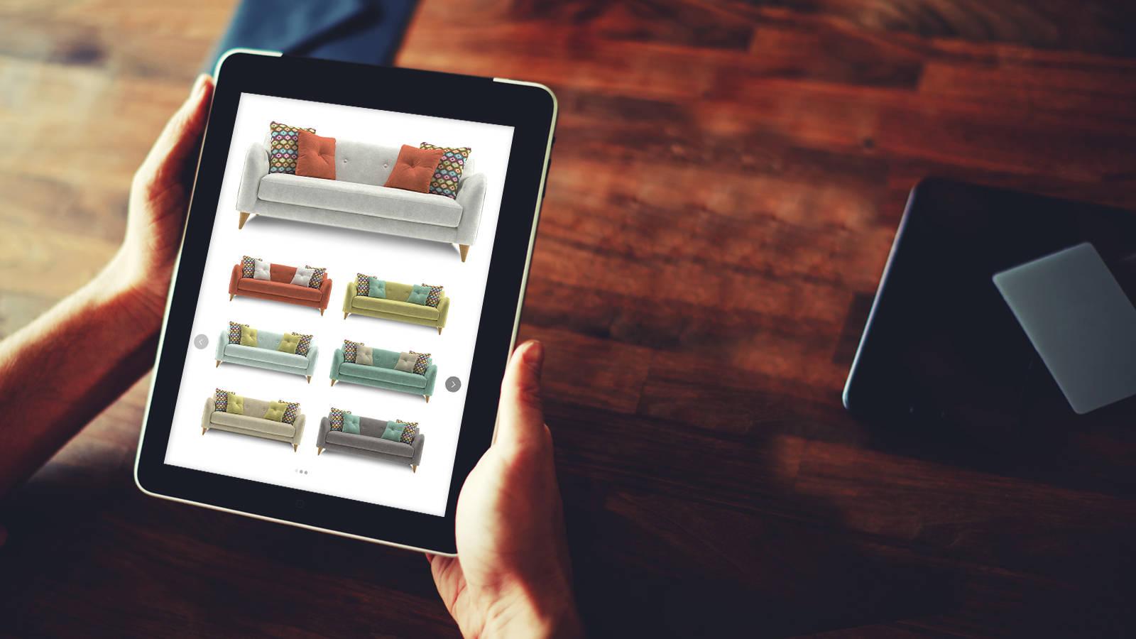 Sofas on an iPad