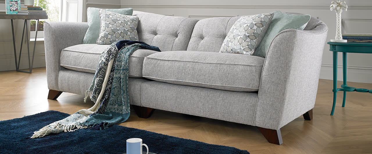 Grey fabric Bartelli sofa