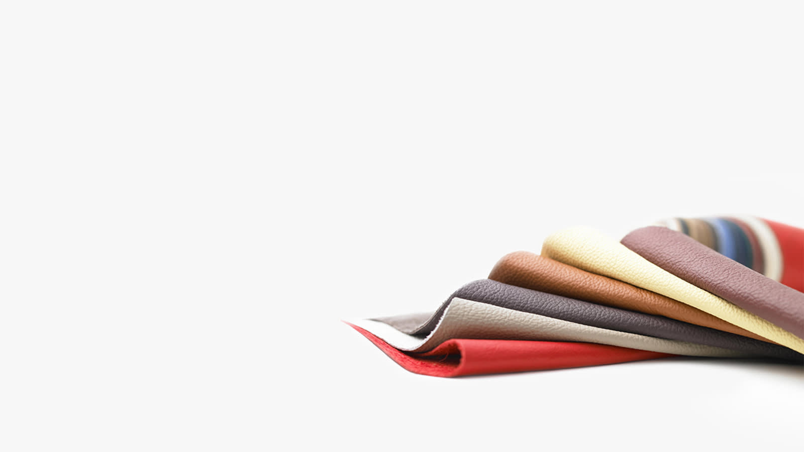 Durable leather in a range of colours