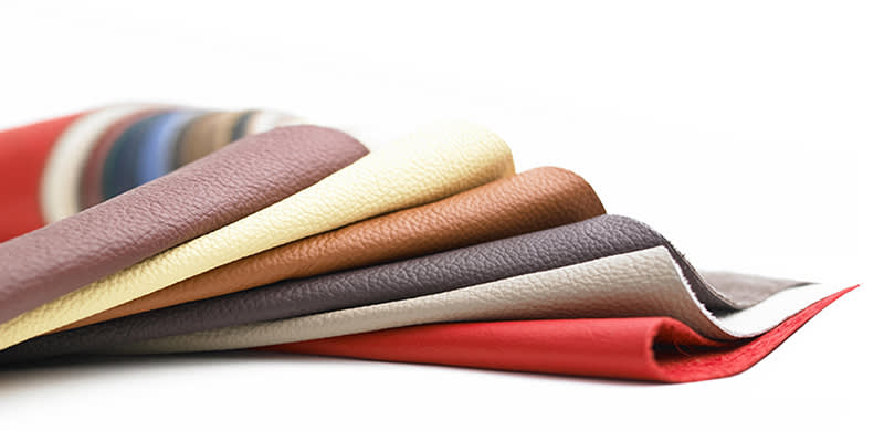 Different coloured leathers