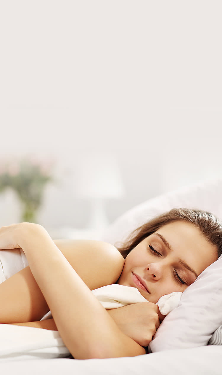 Woman enjoying restful sleeping