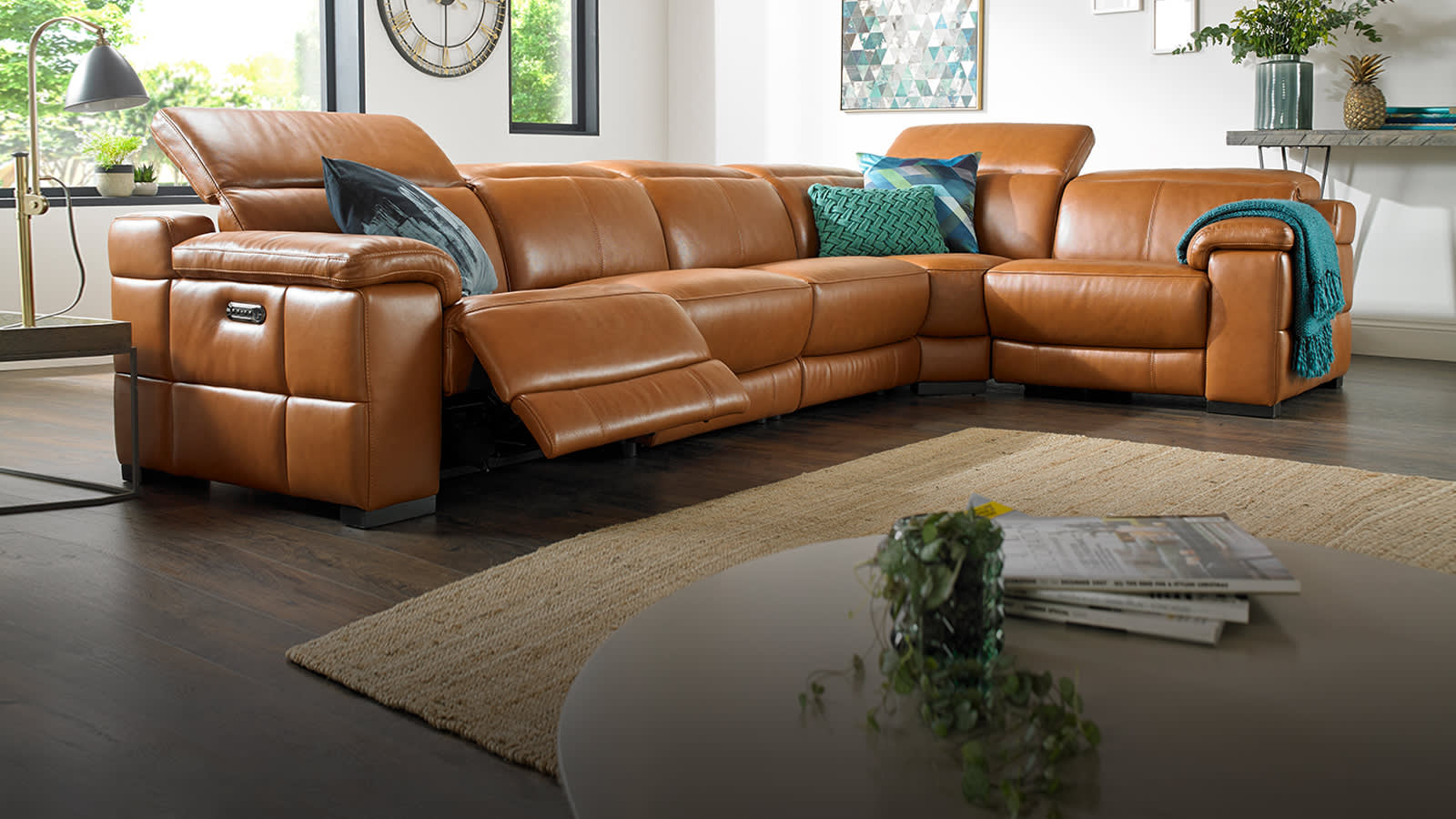 Leather sofas corner for Sofa 4 meter