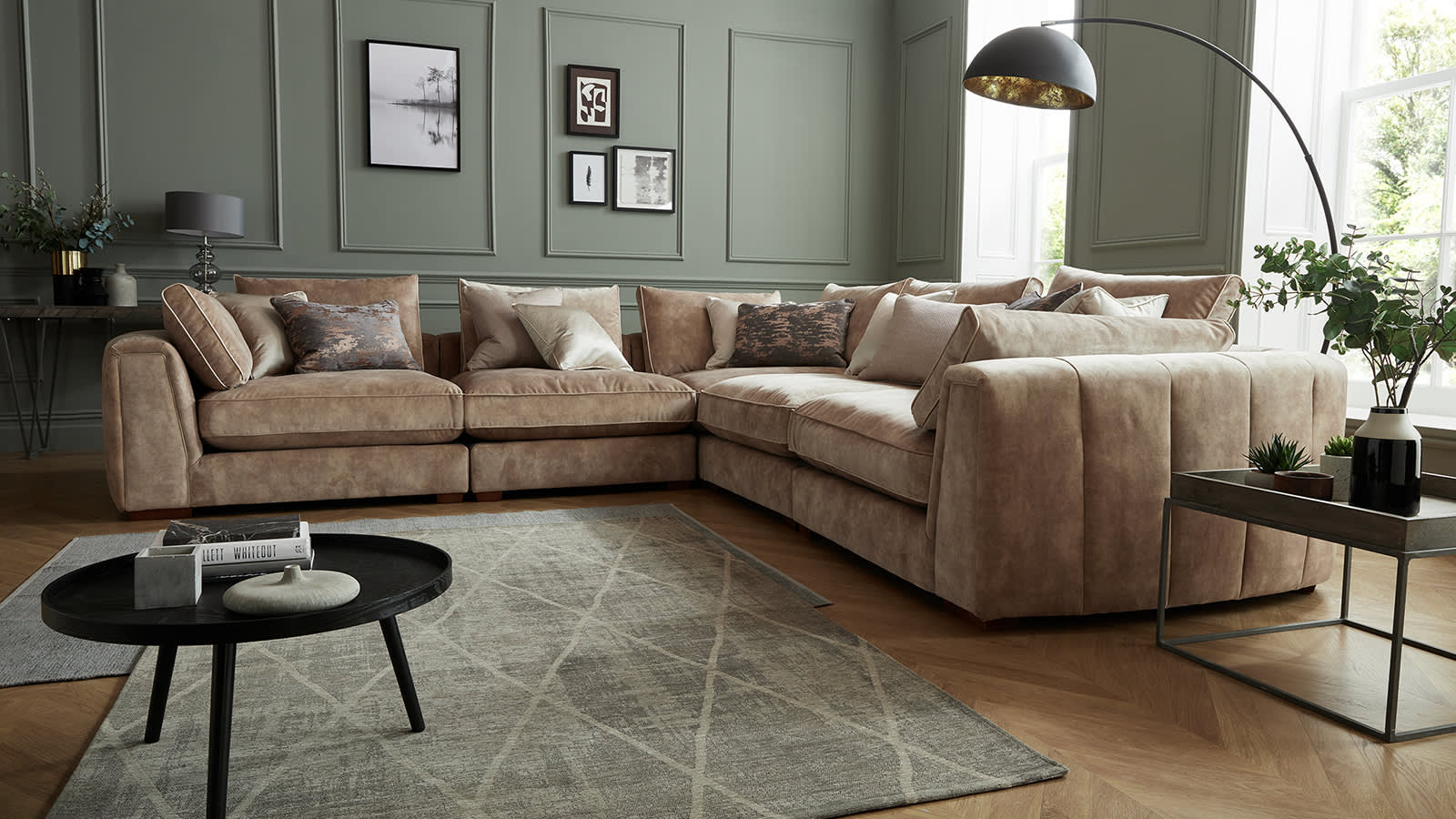 Corner Sofas Leather And Fabric Sofology