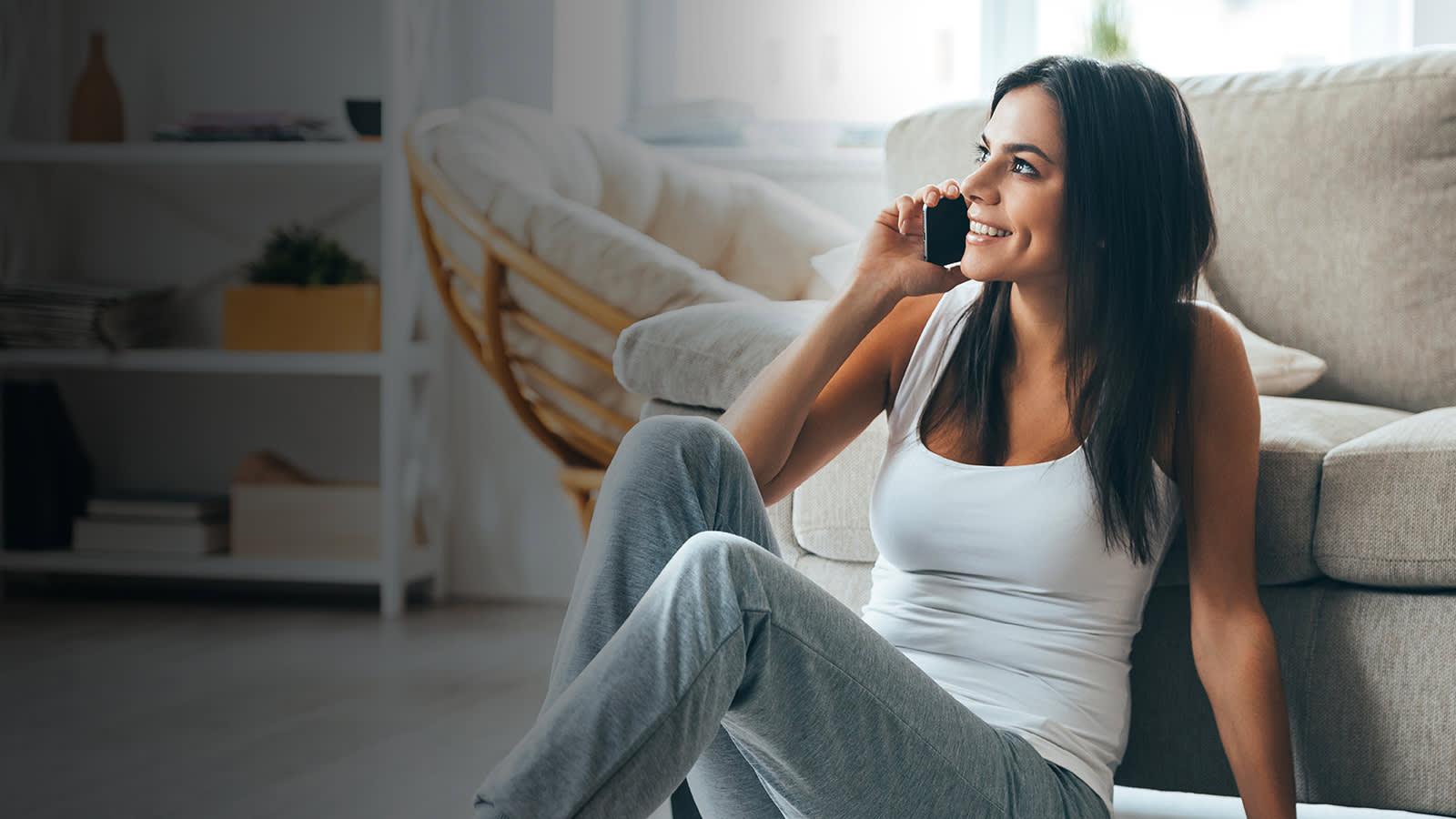 Women talking on the phone