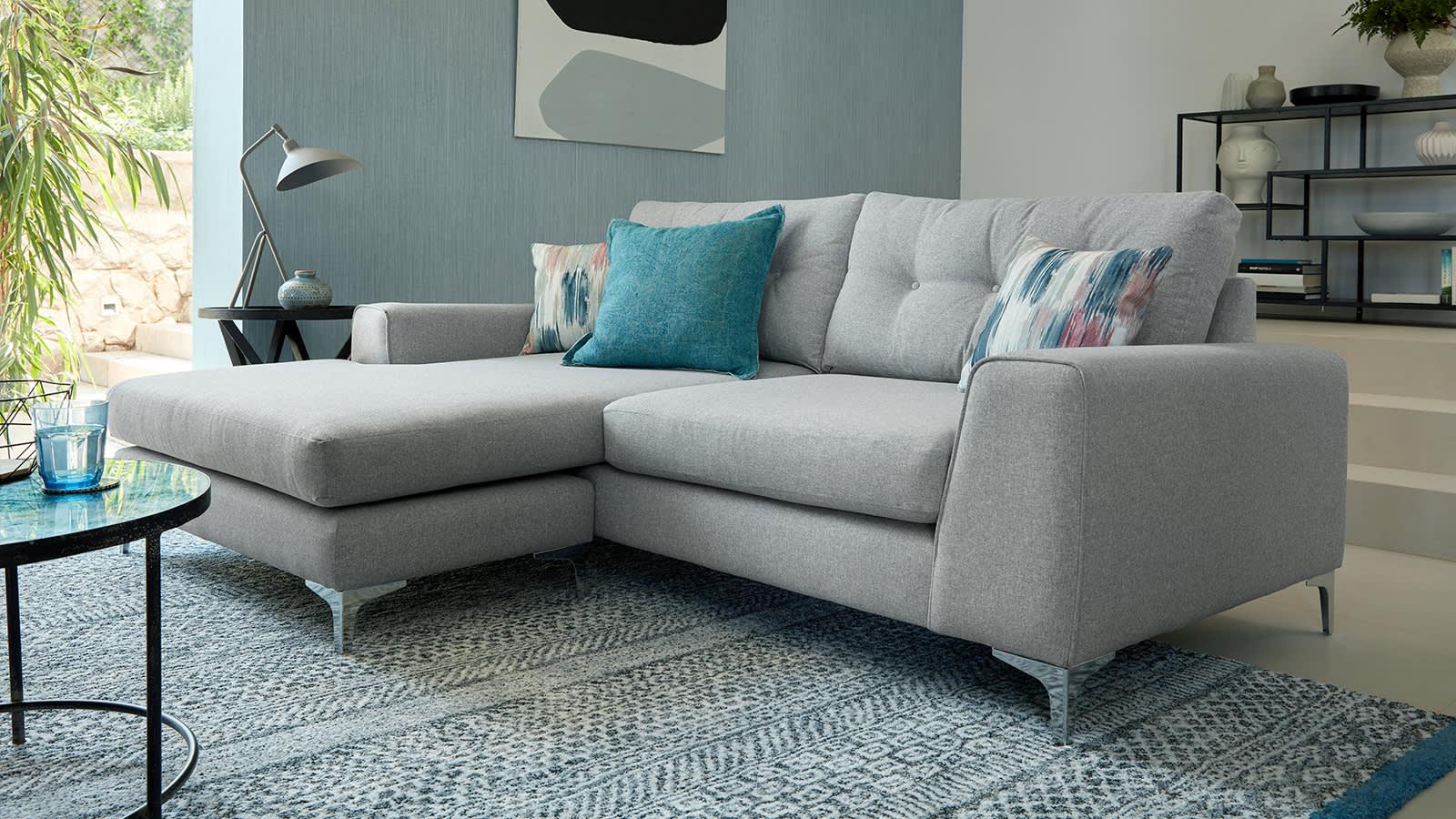 Grey Demure fabric sofa