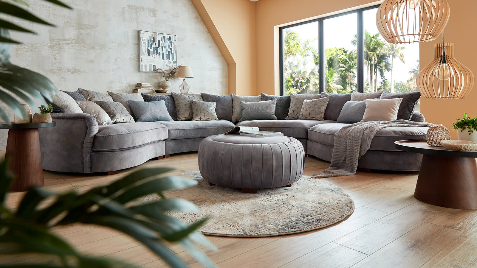 Sofology Palm corner fabric sofa
