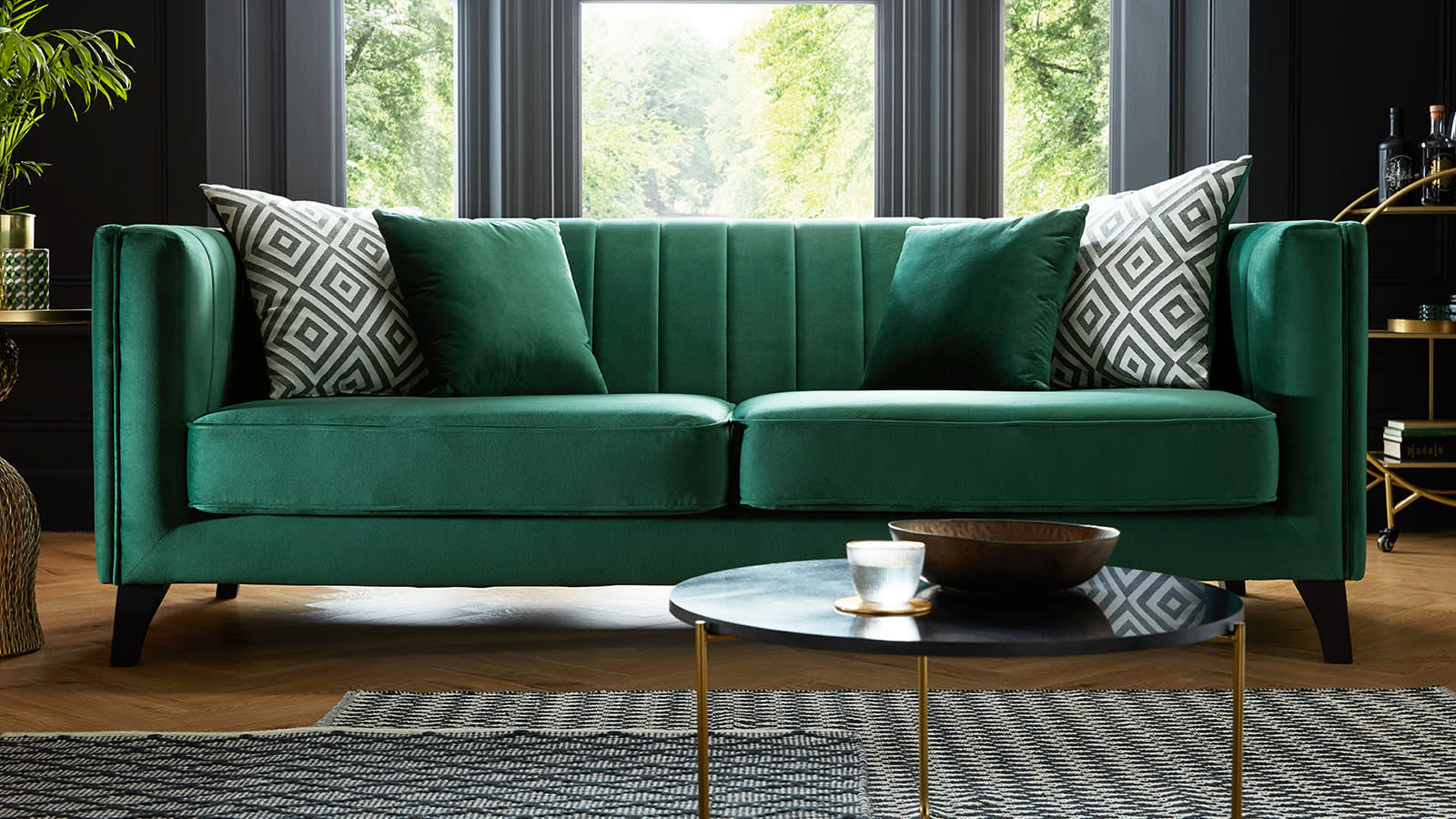 Sofology Fluted Ivy Fabric Sofa