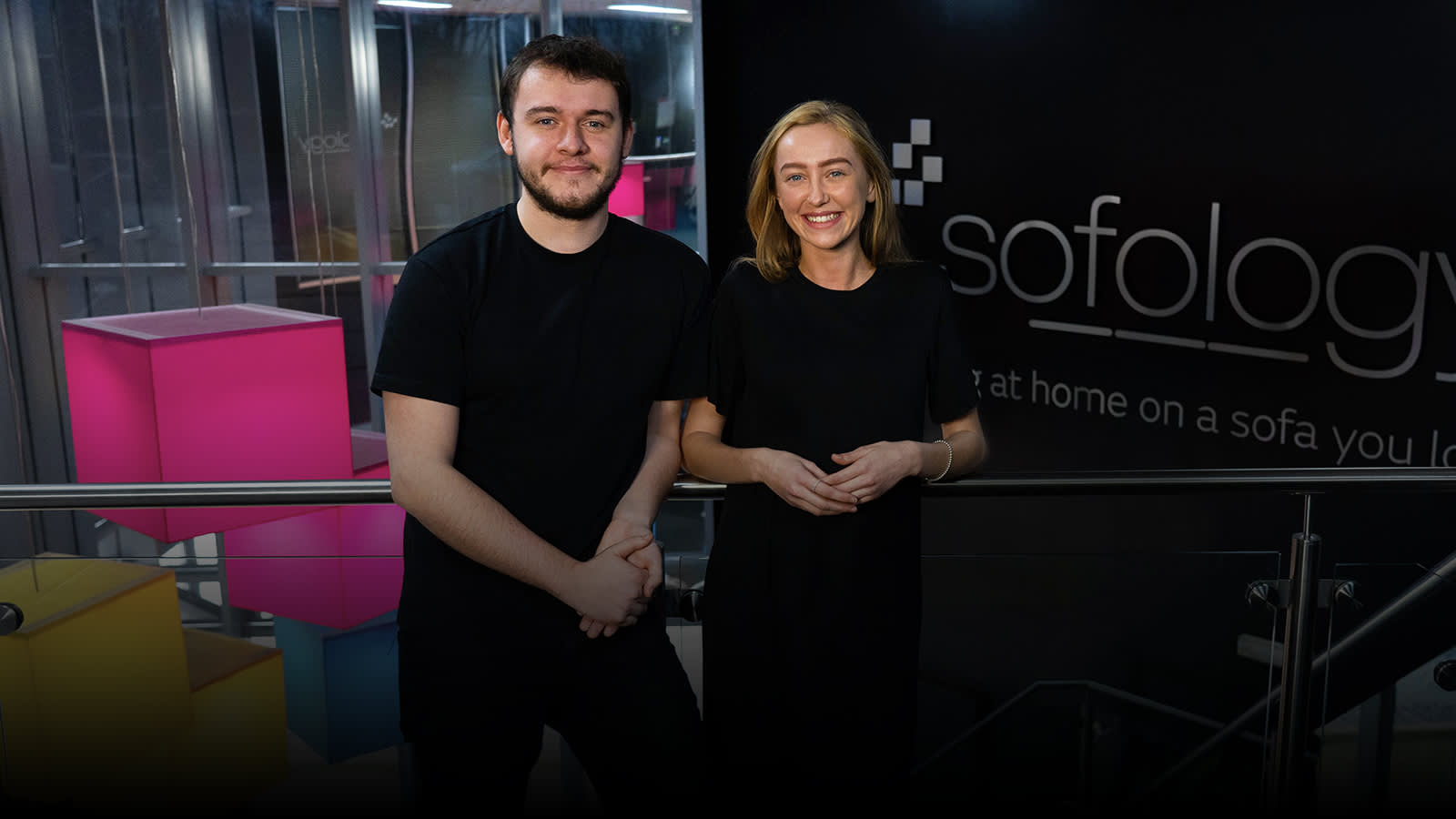 Sofology apprentices Jack and Amy