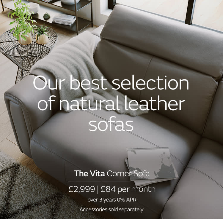 Sofology Vita Leather Sofa
