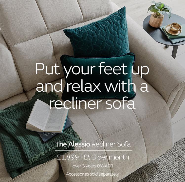 Sofology Alessio Recliner Sofa