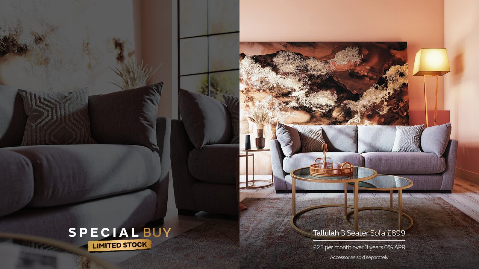 Sofology Tallulah Special Buy Grey Sofa