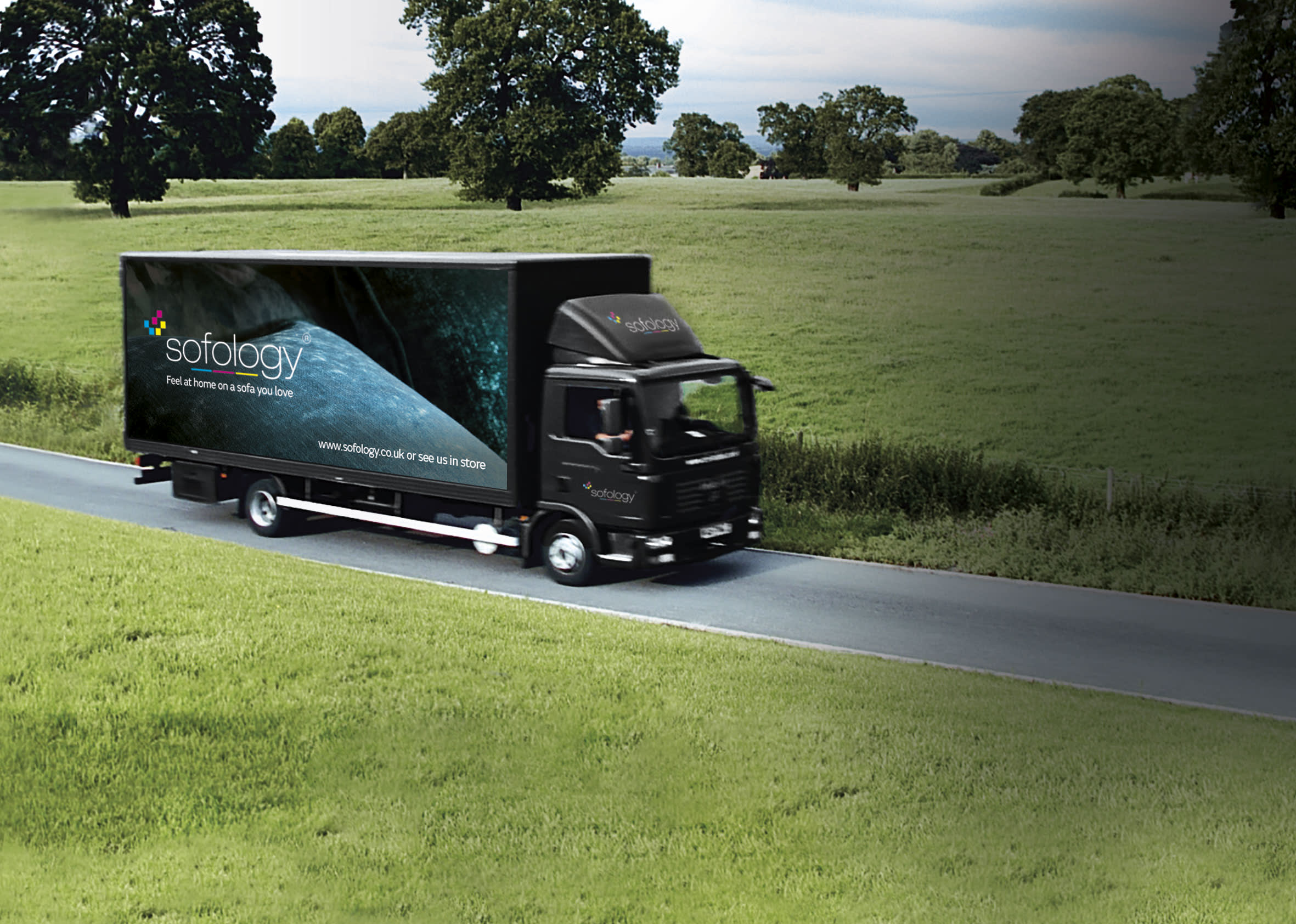 Sofology delivery truck