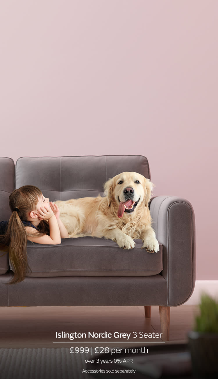 Sofology Pet Friendly Fabric Sofa with Aquaclean Extreme
