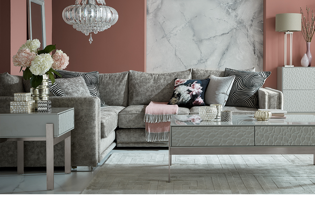 Fabric Midas Grey Sofa