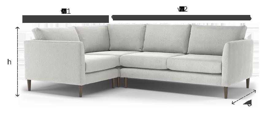 How to measure a corner sofa