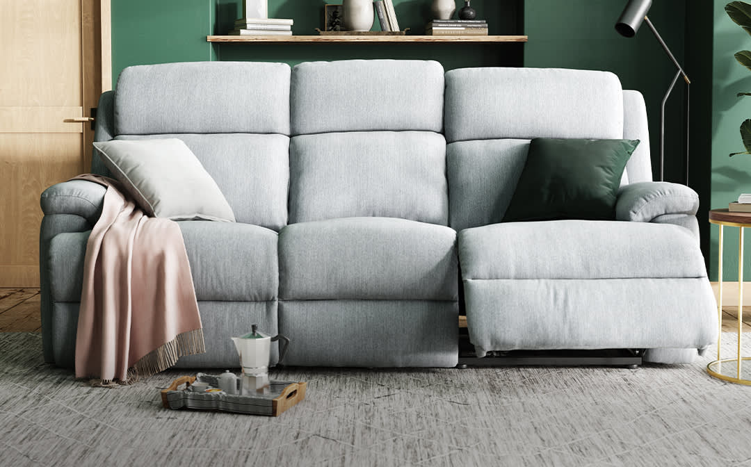 Sofology Gracy Special Buy grey fabric reclinersofa