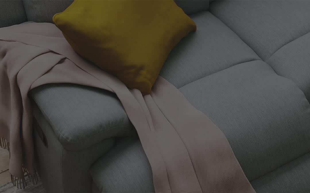Sofology Gracy Special Buy Grey Fabric Recliner Sofa