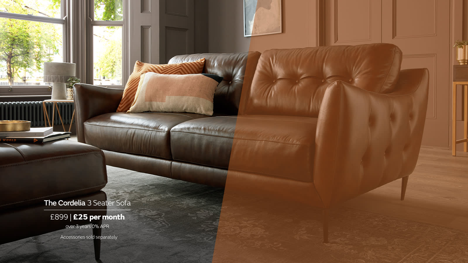Sofology Cordelia Leather Sofa