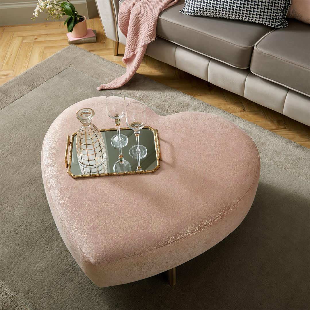 Heart shaped footstool