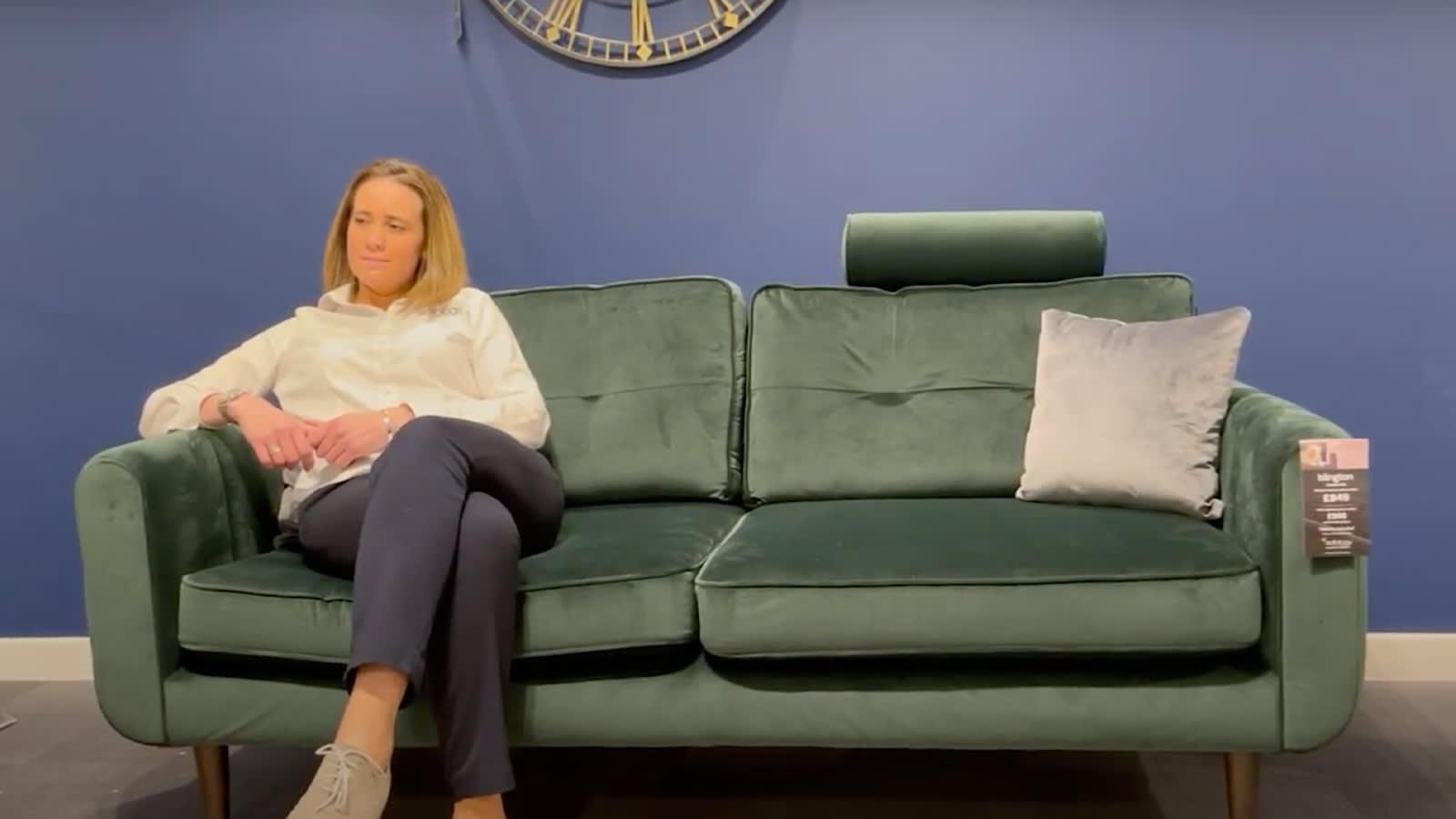Islington bottle green sofa