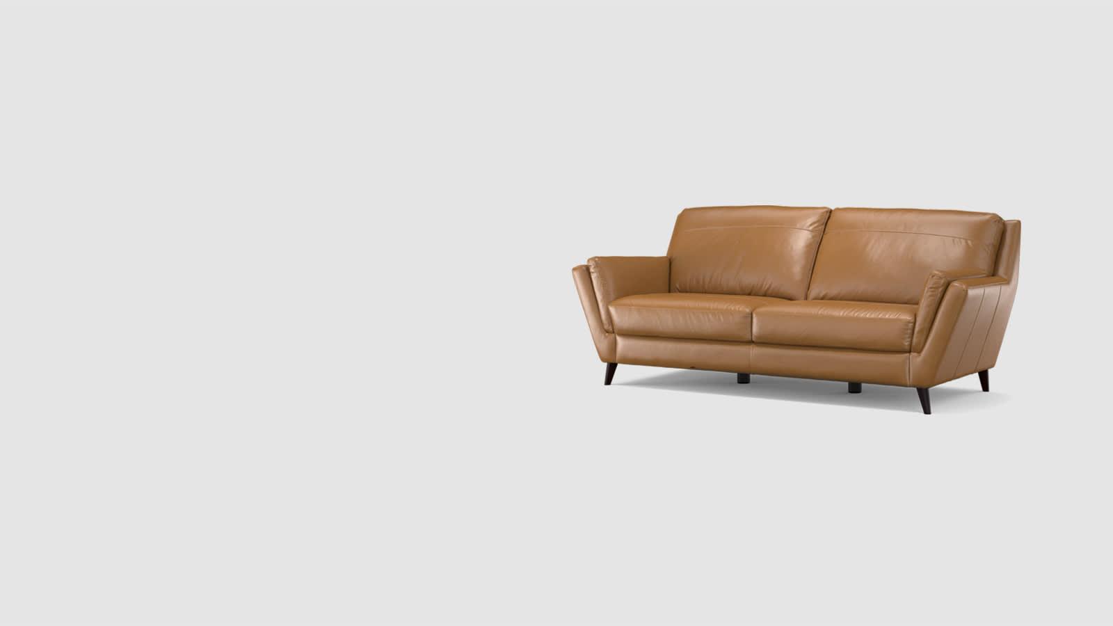 Sofology Fellini Industrial Leather Sofa