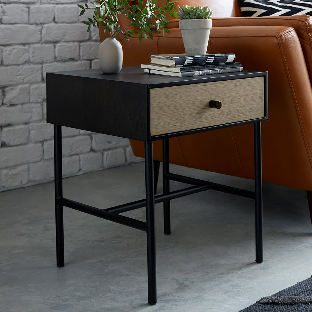 Buckland industrial style side table