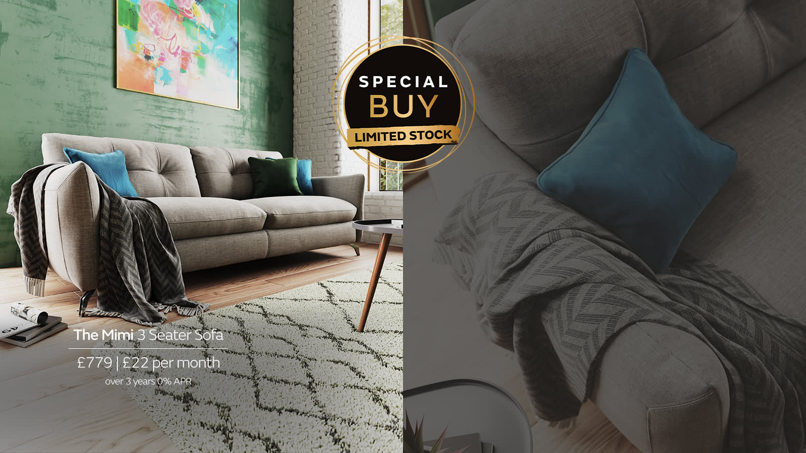 Sofology Mimi special buy sofa in grey