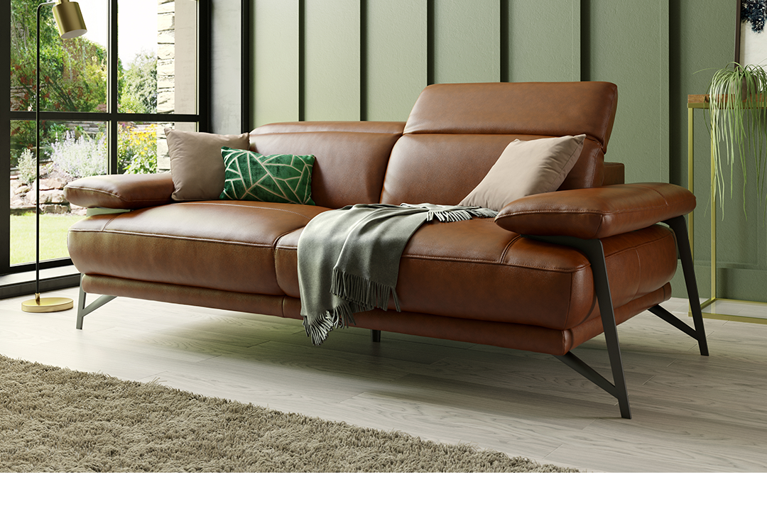 Sofology Valente leather sofa