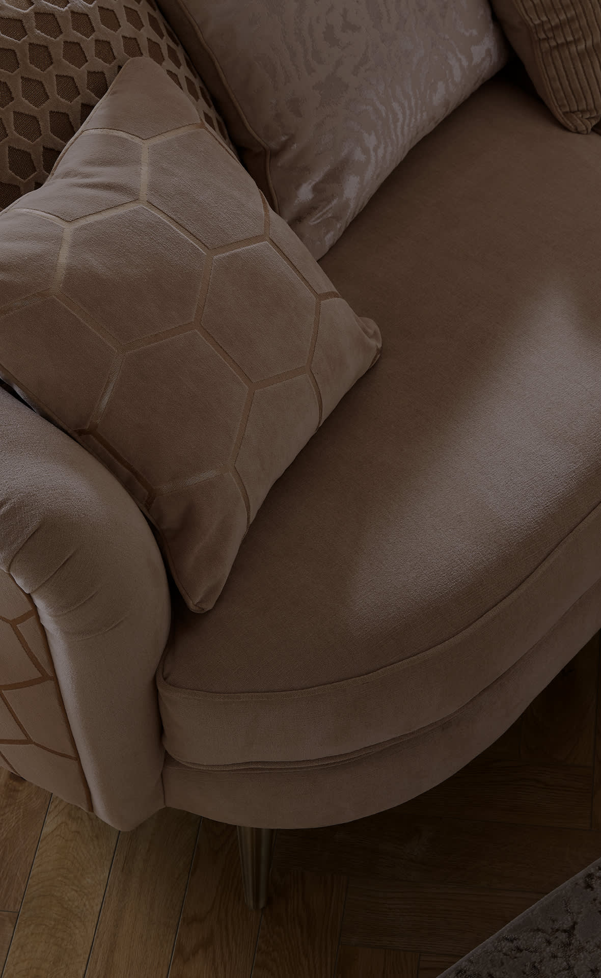 Sofology Honeycomb corner sofa