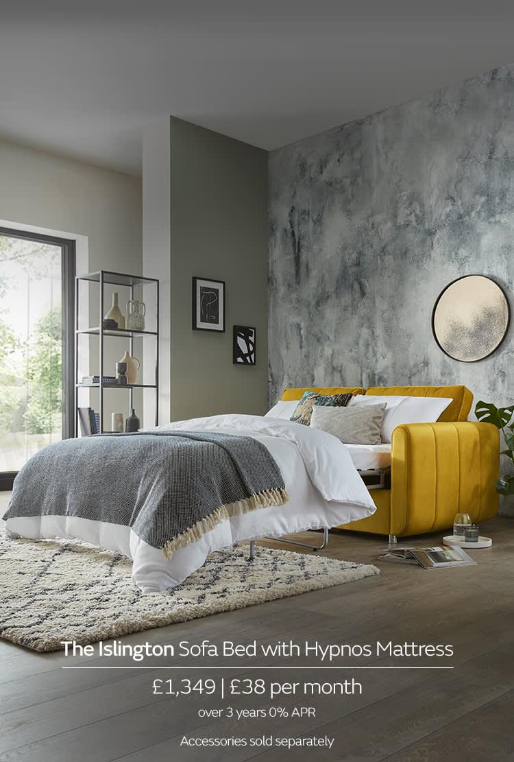 Sofology Islington Yellow Sofa Bed