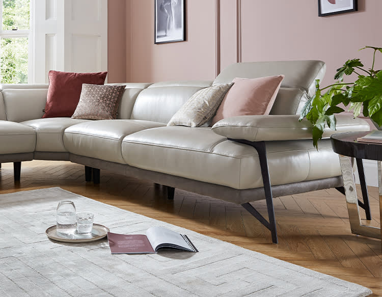 Sofology Valente leather sofa