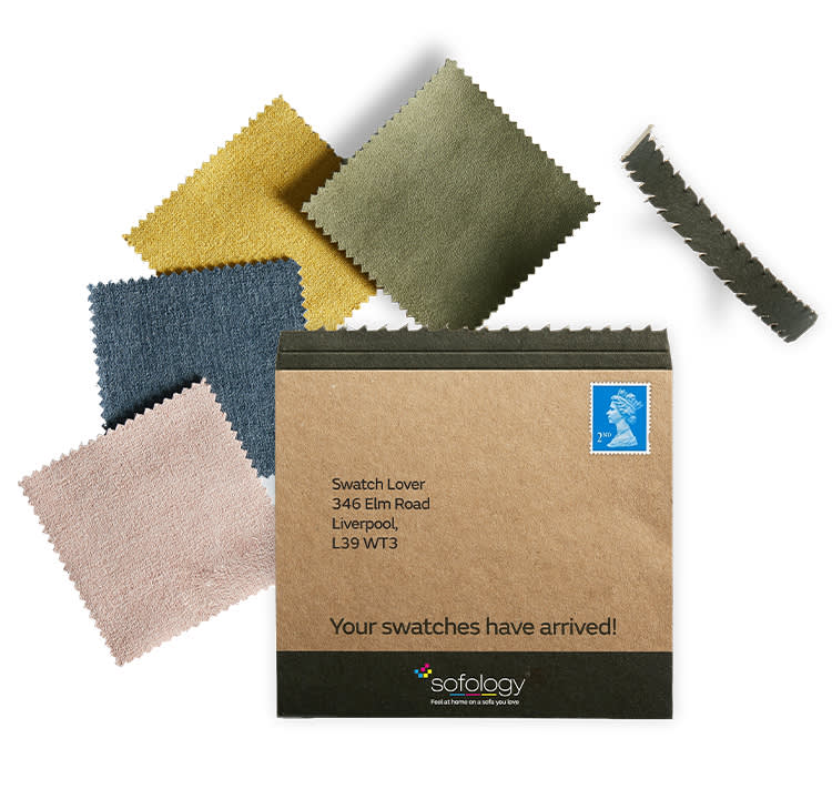 Envelope of swatches
