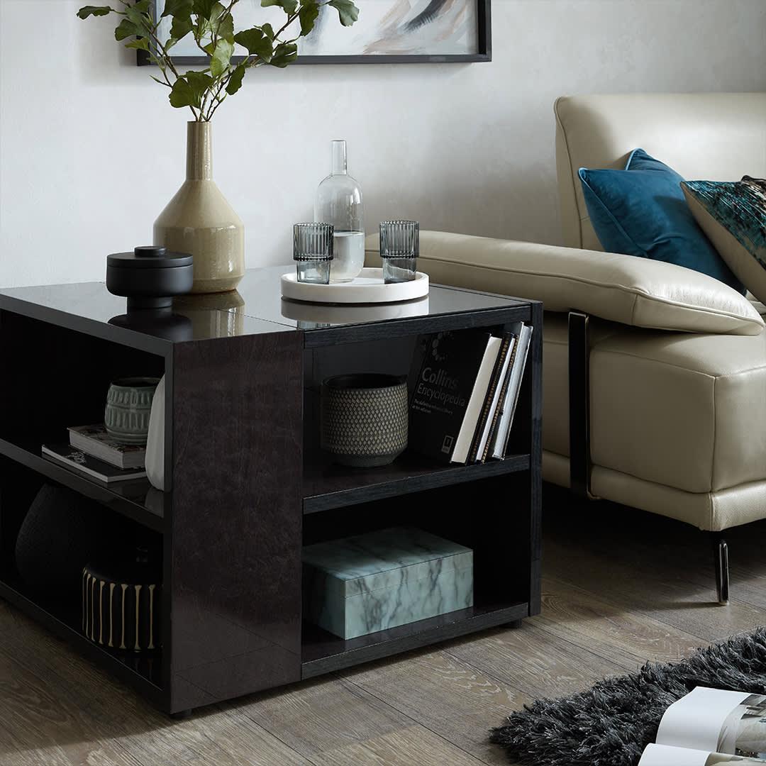 The Eboni Lamp Table