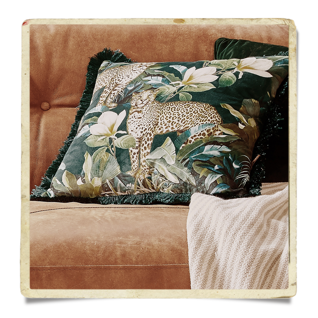 Cougar scatter cushion