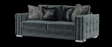 midas уголь / серый mix 3 местный диван