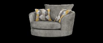 majestic majestic plain трюфель желтый микс Каддлер вращающееся кресло