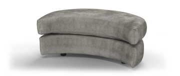 majestic majestic plain трюфель желтый mix Half Moon Footstool